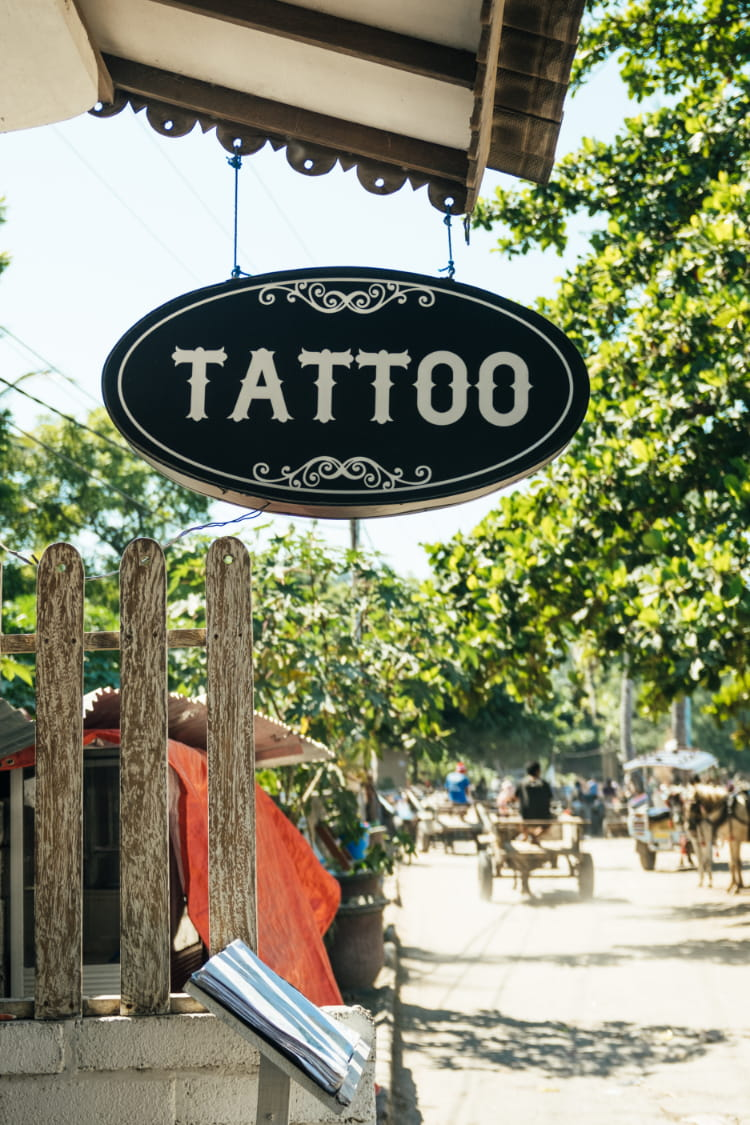 It's highly advised to get tattooed in a registered professional tattoo studio.